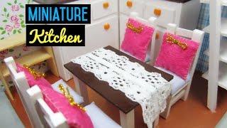 Dollhouse Miniature Kitchen Room #2 | Làm bộ bàn ăn cho ngôi nhà búp bê | Ami DIY