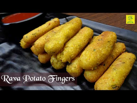 Potato Fingers Recipe I Rava Potato Fingers I Crispy Potato Fingers