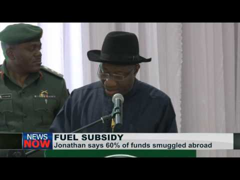 Nigerian President Says 60% Of  Petrol Subsidy Smuggled Out Of Country video