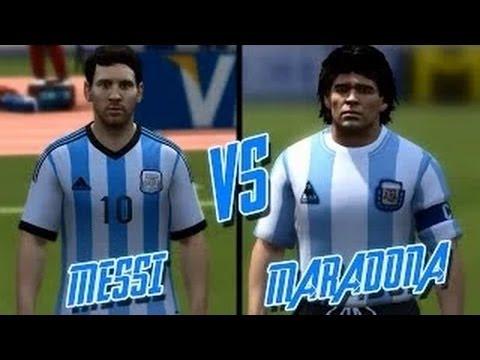 FIFA 14 ► Lionel Messi vs Diego Maradona ᴴᴰ