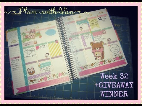 Plan with Van: Week 32 in my Erin Condren Life Planner