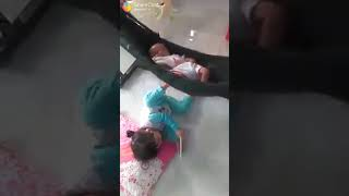 Small baby vs big baby with Tamil song - whatsapp
