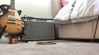QUICK FENDER 68 CUSTOM DELUXE REVERB DEMO WITH GIBSON SG FADED