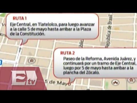 Ruta de la marcha conmemorativa del 2 de octubre / Todo México