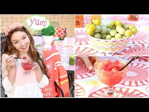Healthy Snacks for Spring/Summer: DIY Shaved Ice, Green Juice, & more!
