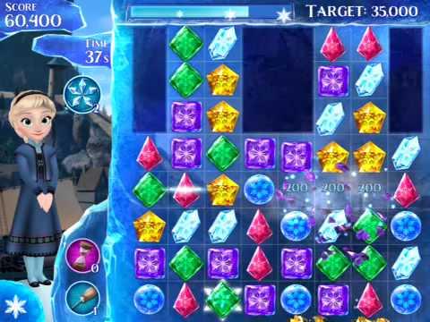 Disney Frozen Free Fall level 19 (3 stars)