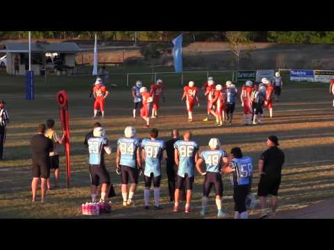 Gridiron Qld Gold Coast Stingrays v Sunshine Coast Spartans Week 5 30-08-2014