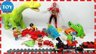 Đồ chơi Doremon hài Nobita dắt Xuka đi bán cá cho chú khủng long cá sấu và anh siêu nhân