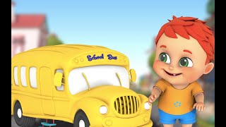 Wheels on the bus - Learn English with songs for children  Jugnu Kids