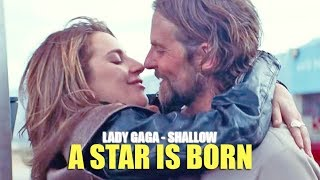 Lady Gaga & Bradley Cooper - Shallow (Lyric video) • A Star Is Born Soundtrack •