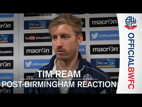 TIM REAM | Post-Birmingham reaction