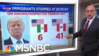 For Fact's Sake: The Donald Trump Admin Has Border Crossings All Wrong | Velshi & Ruhle | MSNBC