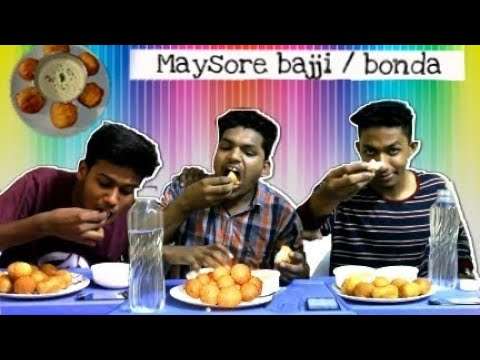 South Indian Food Challenge/Mysore bajji [bonda] Challenge | Indian Food challenges | TNG
