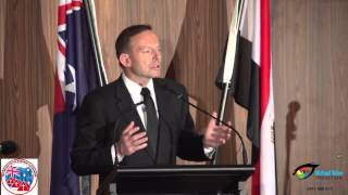 PRIME MINISTER OF AUSTRALIA THE HON TONY ABBOTT MP speaking at the ACM Coptic New Year Dinner