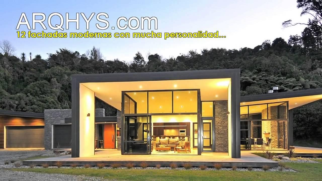 12 fachadas modernas con mucha personalidad youtube Modelo de casa con local comercial