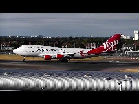 London Heathrow Airport - 27R Takeoffs! Virgin Atlantic 747, United 757, Air Canada 767 & More...