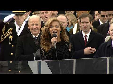 Beyoncé performs at the 2013 Presidential Inauguration