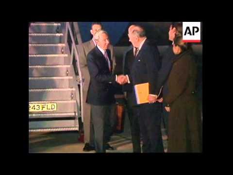 UK: US SECRETARY OF STATE WARREN CHRISTOPHER VISIT UPDATE