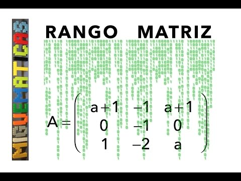 Rango de una matriz en función de un parámetro PAU Zaragoza 2016