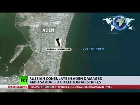 Russia's Yemen consulate damaged amid Saudi-led airstrikes