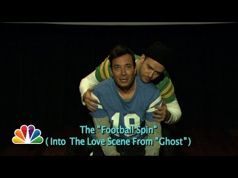 Jimmy and Justin Timberlake dance through the history of touchdown celebrations. Subscribe NOW to The Tonight Show Starring Jimmy Fallon: http://bit.ly/1nwT1...