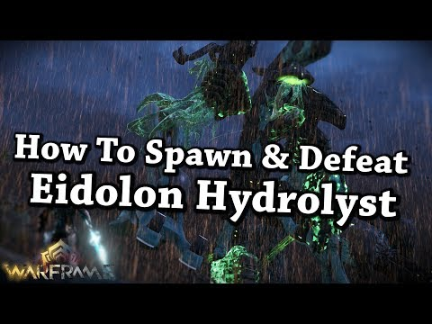 Warframe | How To Spawn & Defeat/Capture Eidolon Hydrolyst