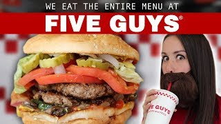 WE ORDER THE ENTIRE MENU 🍔🍟 FIVE GUYS