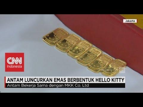 Anting Emas Anak Hello Kitty 04 Anting Gelang