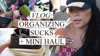 VLOG: ORGANIZING SUCKS + MINI HAUL | Stephanie Ledda