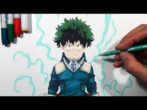 Tutorial: How To Draw Midoriya Izuku | Deku  - My Hero Academia!