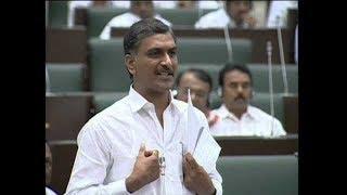 Minister Harish Rao speech in Legislative Assembly over Projects Re-Designs - netivaarthalu.com