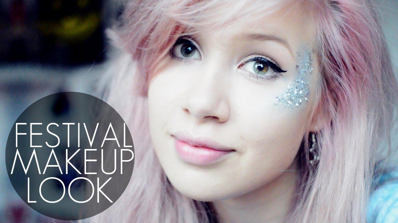 Fun festival glitter makeup tutorial youtube