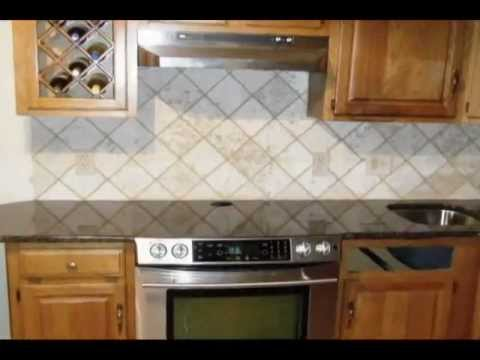 Tile designs for kitchen backsplashes increase the unique look of your granite countertops Kitchen backsplash ideas youtube