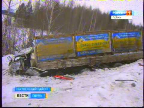 Авария в Нытвенском районе- столкнулись 2 фуры