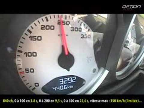 300 km/h en Porsche 997 9ff (Option Auto)
