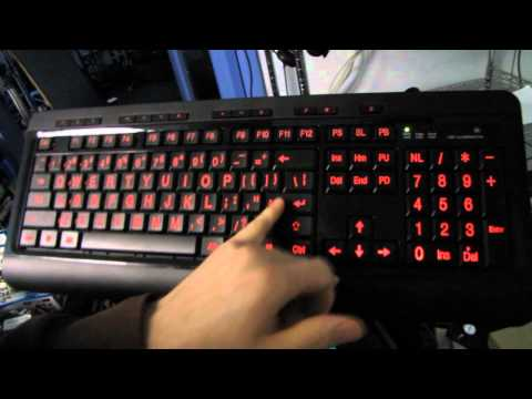 Azio KB505U LARGE Print Backlit Keyboard Unboxing & First Look Linus Tech Tips