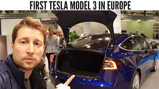 First TESLA Model 3 in Europe I Interior Exterior Short Review