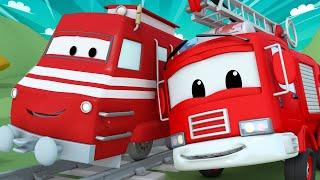 Xe lửa dành cho thiếu nhi - Nước cho bể bơi - Xe cứu hỏa Franck - Phim về xe lửa dành cho thiếu nhi