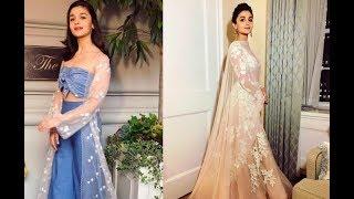 Alia Bhatt Glamorous Style Flips At IIFA Rocks Green Carpet 2017
