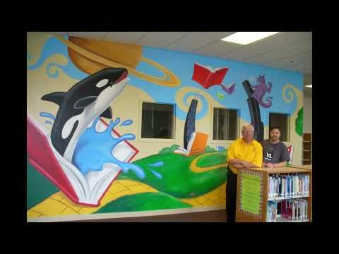 Chicago Cares Mural - Newton Bateman Elementary School, Chicago, IL
