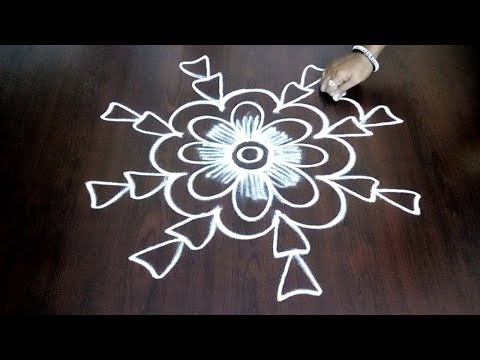 Beautiful New Design Rangoli  || Freehand Kolam Without Dots For Beginners Easily || Fashion World