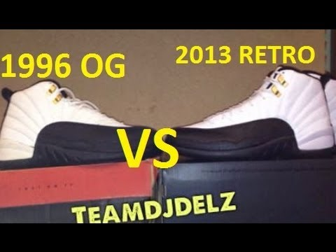 2013 Air Jordan Taxi 12 XII Retro  VS Original 1996 Original Sneaker Comparison With Dj Delz