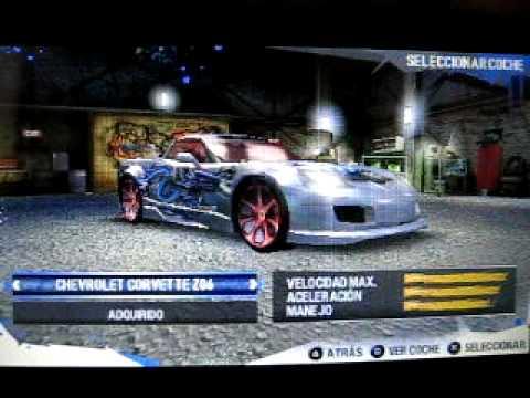 Todos los carros de need for speed Carbon (PSP)