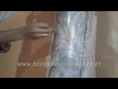 Imitacion Marmol en Columna