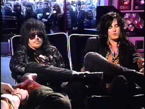 Nikki Sixx&Mick Mars Live Interview on Much Music, 1991-Part 1