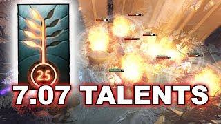 Dota 2 NEW 7.07 PATCH - ALL TALENTS!