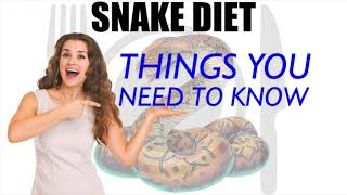 Snake Diet For Weight Loss | Lose 30 LBS In 30 Days | Lose 15 Kgs In 30 Days