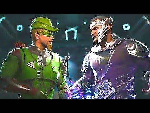 INJUSTICE 2 Black Adam Green Arrow Scarecrow Gameplay (PS4 / XBOX ONE)