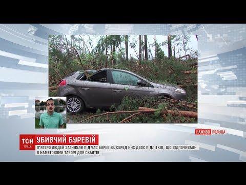 Смертельний буревій у Польщі забрав життя п'яти людей
