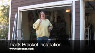ScreenEx Retractable Pull Down Garage Door Screen Installation